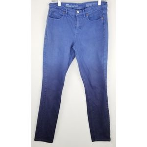 """Madewell Blue Ombre """"Skinny Skinny"""" Jeans Size 30"""